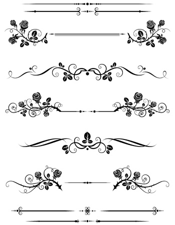 flower line: Dividers and borders