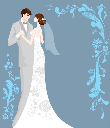 bride groom: Wedding  background with space for text
