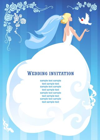 Bride and dove  Vector