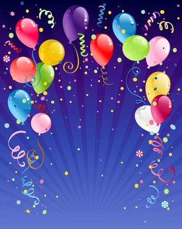helium: Celebration  night background with space for text