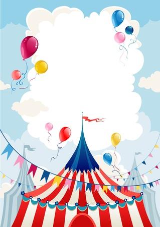fondo de circo: Día del circo  Vectores
