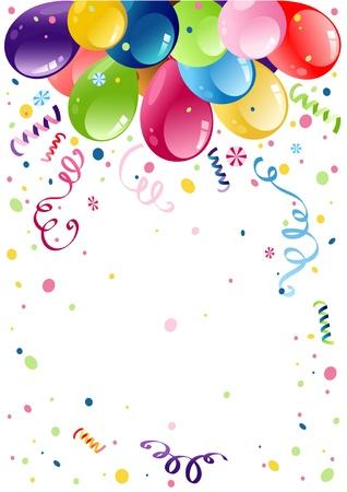 globos fiesta: Globos coloridos partido con espacio para texto Vectores