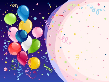 Celebration background with space for text Vector