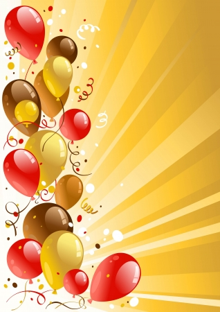 helium: Golden celebration background with space for text