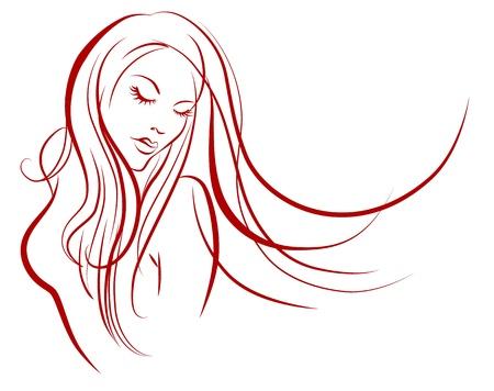Female silhouette Reklamní fotografie - 9932464