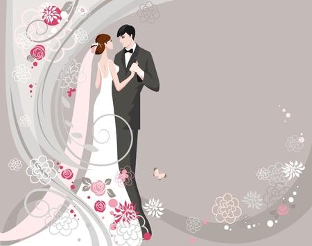 Cérémonie de mariage abstraite Vecteurs