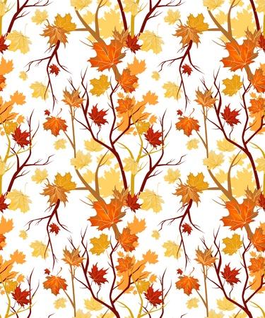 autumn flowers: Autumn seamless