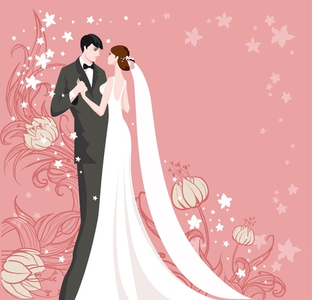 wedding symbol: Wedding with space for text