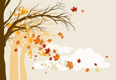 dead tree: Autumn background