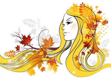 Autumn beauty Vector