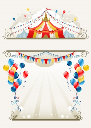 party celebration: Circus frame with space for text