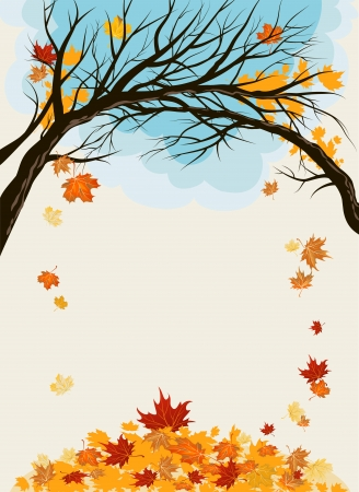 Maple leaves background with space for text