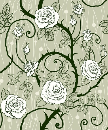 Rose background seamless  Vector