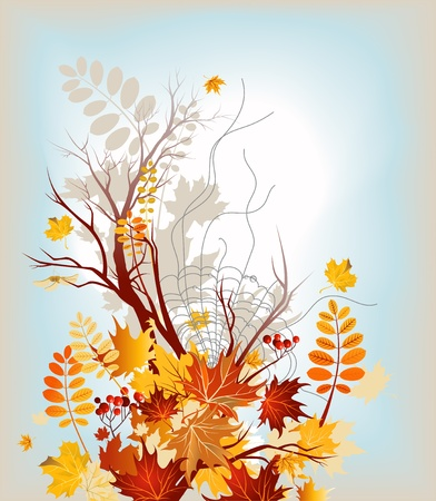 Autumn background with space for text Stock Vector - 10585578
