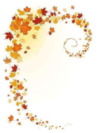 dode bladeren: Bladeren achtergrond met ruimte voor tekst