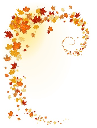Leaves background with space for text Vector