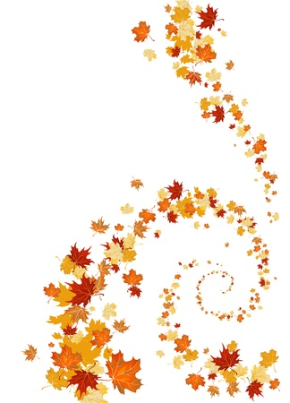 Leaves swirl background with space for text Stock Vector - 10585603