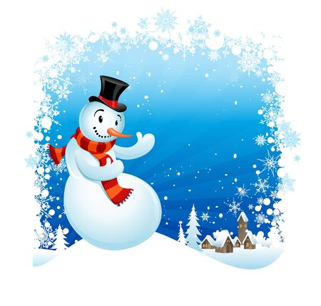 Snowman  with space for text   Vector