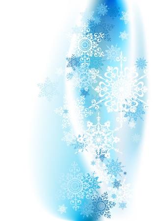 snowflake: Winter background