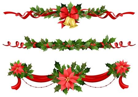 slingers: Feestelijke decoratie van Kerstmis