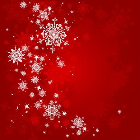 schneeflocke: Red Christmas Hintergrund mit Platz für Text