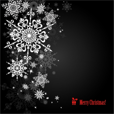 Snowflakes background with space for text   Illustration