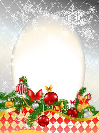 Beautiful decorated Christmas background with space for text Stock Vector - 10966390