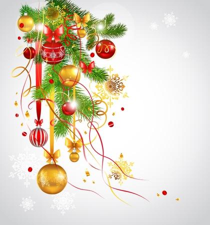 weihnachten tanne: Sch�ne Weihnachten Tannenbaum geschm�ckt. Eps 10