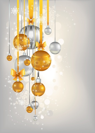 Golden and silver bells   background Stock Vector - 10966387