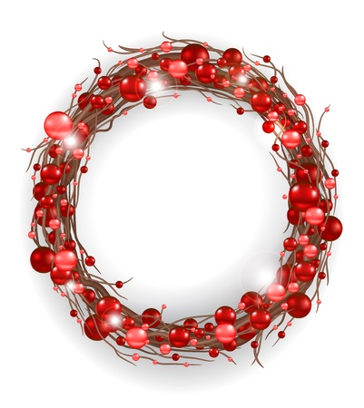 Christmas wreath  Stock Vector - 11064367