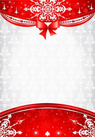 Red and silver christmas background Stock Vector - 11064369
