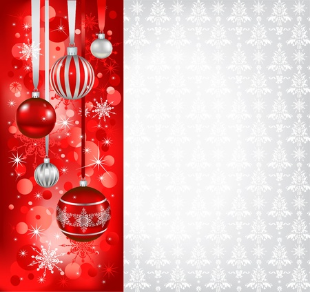 Red Christmas holiday background with space for text Stock Vector - 11372475