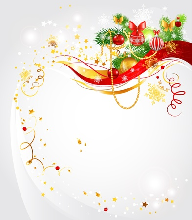 Light Christmas background with space for text Stock Vector - 11372480