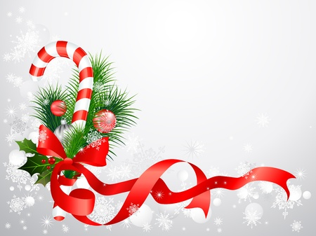 Christmas background with candy cane with space for text Vector