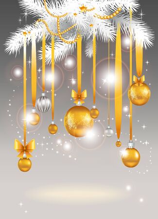 Christmas light background with space for text Stock Vector - 11372482