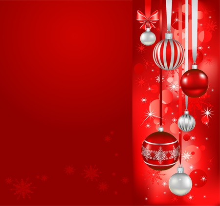 Red christmas holiday background Vector