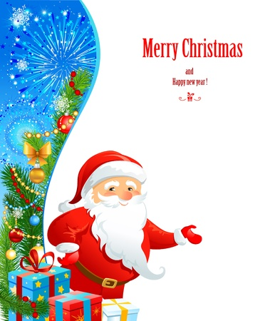 Santa Claus with space for text   Vector