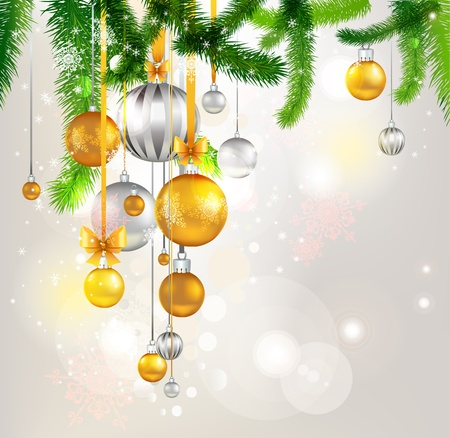 Christmas tree light background. Eps 10 Vector