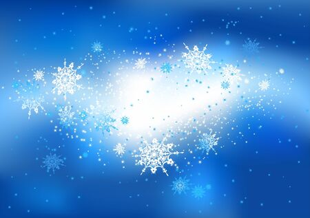 Snow abstract background with space for text   Stock Vector - 11654913