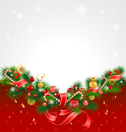 Christmas background with fir tree Stock Vector - 14226908