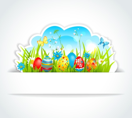 Happy Easter background Stock Vector - 17858831
