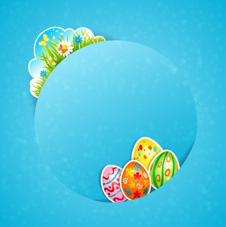 Happy Easter with egg  with space for text Stock Vector - 17858845