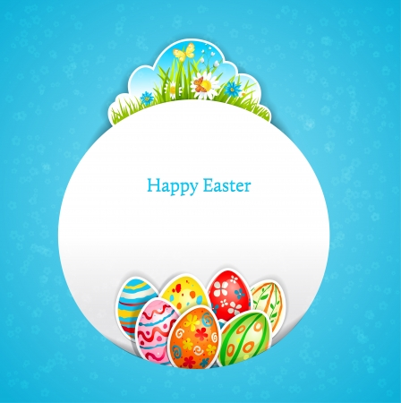 Blue Easter background with space for text   Vector