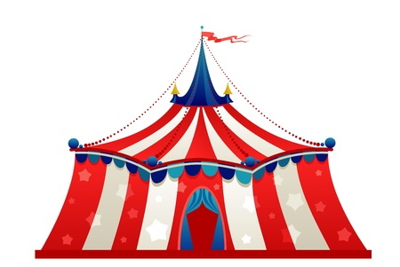 circus tent: Circus marquee tent isolated Illustration