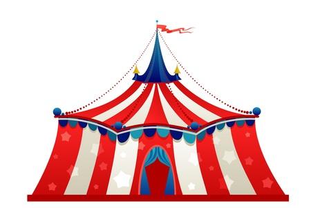 cirque: Tenda di circo tendone isolato Vettoriali