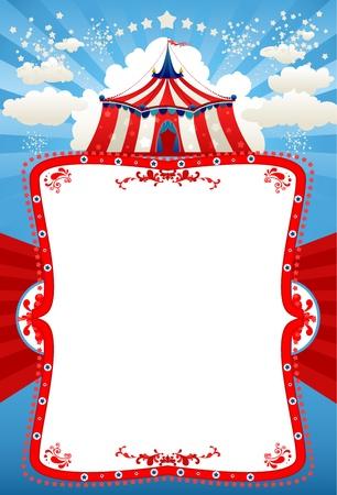 fondo de circo: Circo carpa fondo con espacio para texto Vectores