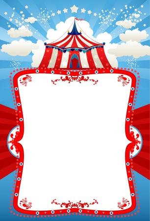 Circus tent background with space for text   Vector