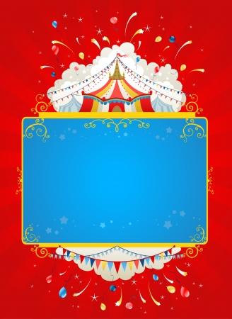 fondo de circo: Circo carpa festiva del cartel