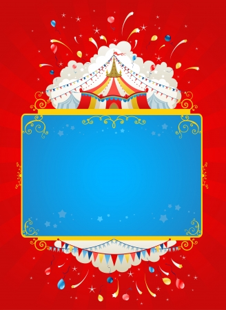 cirque: Festive circus tent poster Illustration