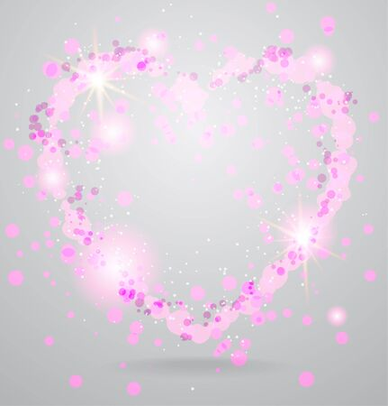 Shining heart background Vector